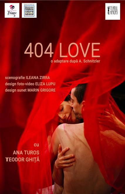 404 LOVE - afis spectacol de teatru