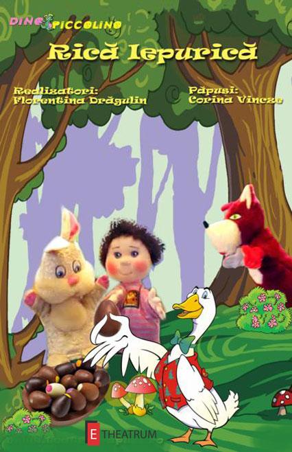 Rică Iepurică și Prietenii -afis spectacol de teatru pentru copii
