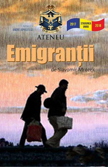 emigrantii-afis, teatru online, teatru, e-theatrum