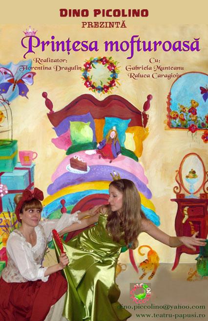 afis-printesa-mofturoasa-e-theatrum, teatru online, povesti