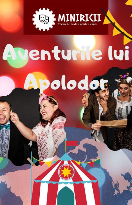 Aventurile lui Apolodor - afis -teatru pentru copii
