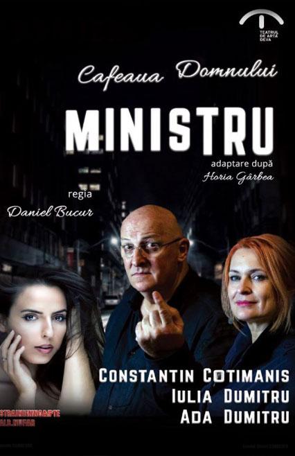 cafeaua-domnnului-ministru-afis-e-theatrum, teatru online, povesti