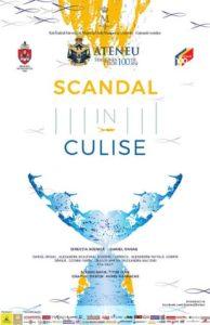Scandal în culise afis-teatru, teatru online, povesti